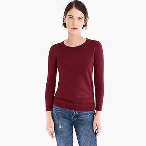 J Crew Size M Merino Wool Sweater Burgundy